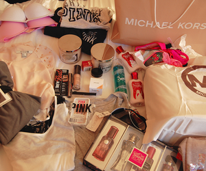 pink, Michael Kors, and shopping image