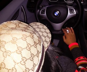 gucci, bmw, and cars image