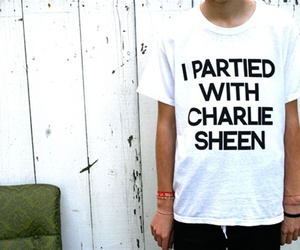 charlie sheen, text, and funny image
