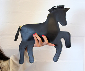 bag, black, and horse image