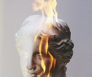 fire, art, and statue image