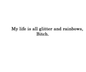 bitch, glitter, and quote image
