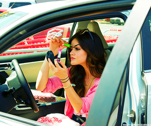 lucy hale, pretty little liars, and make up image