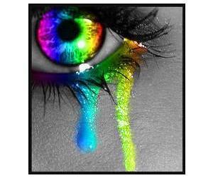 eye, eyes, and neon image