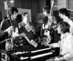 Pink Floyd, roger waters, and nick mason image