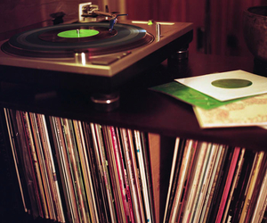 books, vinil, and music image