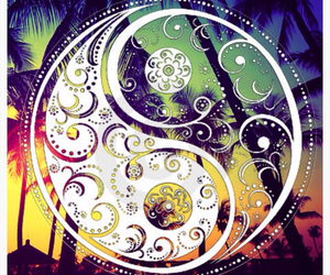 yin yang and colors image
