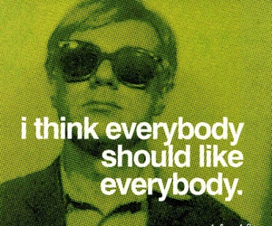 quotes, andy warhol, and everybody image