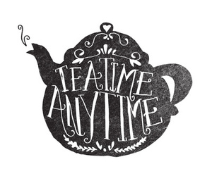 tea, time, and typography image
