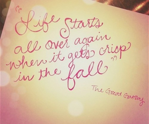 quote, gatsby, and life image