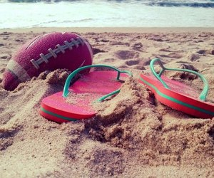 sandals, summer, and football image
