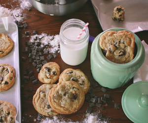 Cookies, milk, and food image