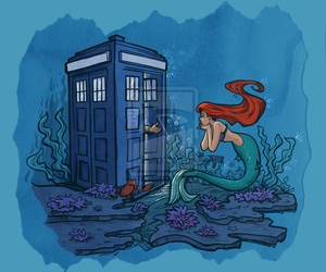 ariel, doctor who, and tardis image