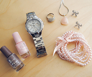 watch, pink, and nail polish image