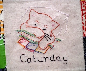 cat, craft, and embroidery image