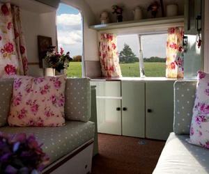 Caravan and vintage image