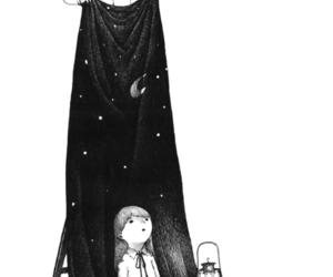 boy, stars, and night image