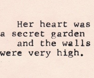 heart, quote, and secret garden image