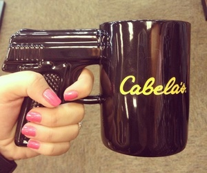 cup, gun, and nails image