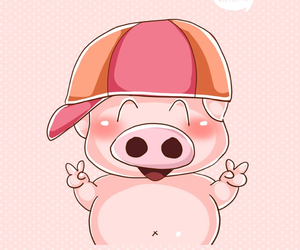pet, pig, and pink image