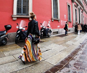 long skirt and streetstyle image