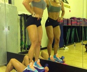 girls, gym, and legs image