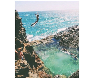 ocean and cliffjumping image
