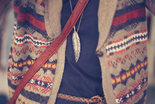 fashion, feather, and sweater image