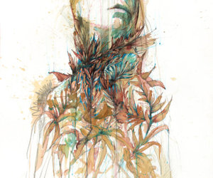 art, woman, and carne griffiths image