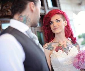 tattoo, red hair, and wedding image