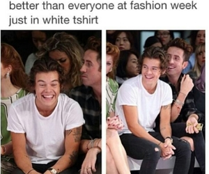 Harry Styles, one direction, and fashion week image