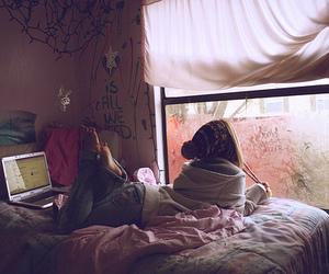 girl, room, and window image