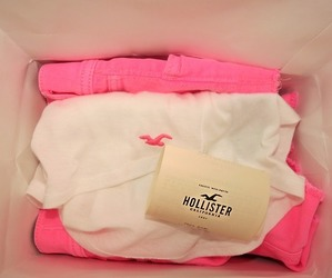 hollister, pink, and white image