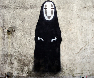 spirited away, art, and no face image