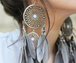 earrings and feather image