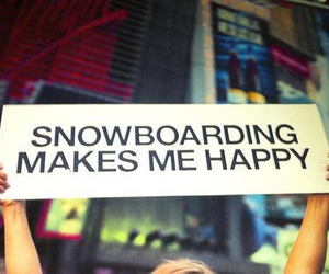 snowboarding, happy, and winter image
