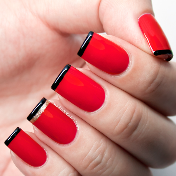Black French Tipsquick Nails Wink And Blush