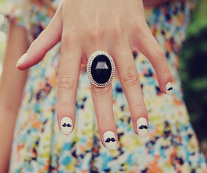 nails, ring, and mustache image