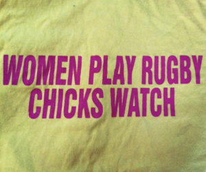 chicks, rugby, and play image