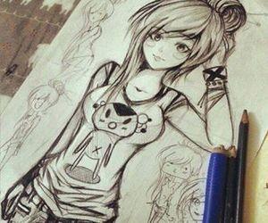 drawing, anime, and art image