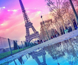 paris, pink, and france image