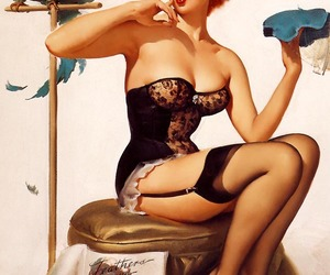 girls, 40's, and Pin Up image