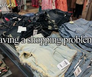 shopping, problem, and just girly things image
