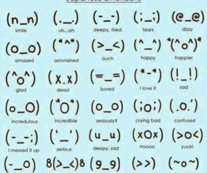 emoticon, japanese, and face image