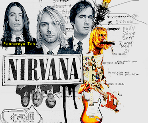 dave grohl, grunge, and kurt cobain image