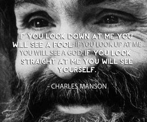quotes and Charles Manson image