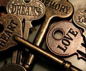 key, love, and Dream image