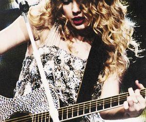 dress, guitar, and hair image