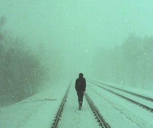 snow, alone, and winter image