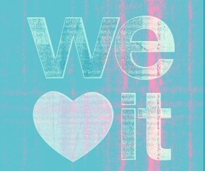 we heart it, heart, and blue image